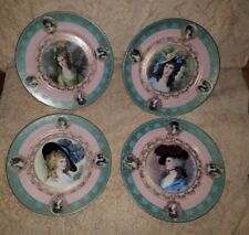 4 Royal Vienna Portrait Cabinet Plates Ladies by Gainsborough Beautiful