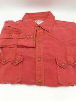 Ryan Michael Mens  Silk Linen Blend Western Shirt  Long Sleeve L MINT
