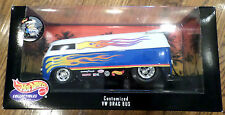 Hot Wheels 1:18 Scale Volkswagen Customized Vw Drag Bus Car W Flames Collectible
