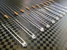 1.8mm Blue 12 Volt Pre Wired LEDS- Qty.10 | 12V Blue LED-Includes Resistors, USA