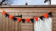 Halloween decor, Orange and Black Bunting Banner