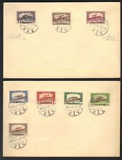 HUNGARY 1919 HUNGARIAN SOVIET REPUBLIC OVPTS ON FOUR COVERS BUDAPEST CANCELS