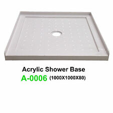 NEW Acrylic Shower Base SANYC A-0006 1000*1000*80 3 Lip Tile Flange Acrylic