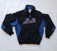 NEW YORK METS MLB Boys Black Majestic Baseball Dugout Jacket Medium 10/12
