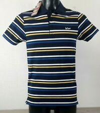 Lee Cooper Stripe Polo Shirt Mens Short Sleeve 3 Buttons Top SMALL R143-24