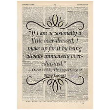 If I am occasionally a little Dictionary Art Print Book Oscar Wilde Gift Funny