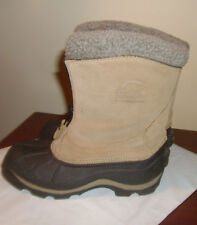 Sorel Womens Ellesmere Winter Boots Sz 6 Insulated Zip Up Waterproof Tan & Black