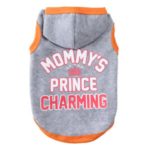 Winter Pet Dog Letter Printed Hoodie Cotton Sweater For Small Dog Coats Hooded