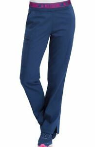 Med Couture #7739 Elastic/Draw Logo Waist Scrub Pant in Navy Size XL-Petite