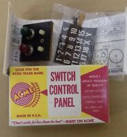 Acme Switch Control Panel (Red & Green Bulbs) USA Vintage 498 NIP
