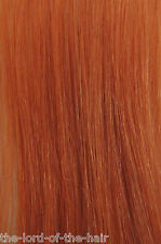 "AMERICAN DREAM QUICK FIX CLIP 12""WEFT HAIR EXTENSIONS V-080 PALE ORANGE 18"""