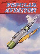 Popular Aviation Magazine (Flying) Sep 1936 (Vought SB2U, Flutter, Wind Tunnel)