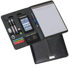 Schreibmappe  -  Aktenmappe  -  Konferenzmappe  -  DIN A4  -  Echt Leder