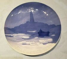 "1924 Bing & Grondahl B&G Christmas Plate "" Lighthouse """