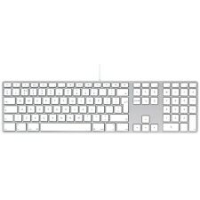 OFFICIAL APPLE KEYBOARD WITH NUMERIC KEYPAD FOR MAC MACBOOK IMAC & 2 USB PORTS