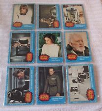 TOPPS STAR WARS BLUE CARDS - YEAR 1977 - PICK THE ONE YOU NEED - MOST NUMBERS