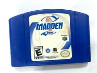 Madden NFL 2001 NINTENDO 64 N64 Game Tested + Working & Authentic!