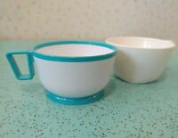 Lot Of 2 Vintage Plastic Airlines Drinking Mugs Delta Pan-Am