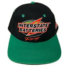 VTG 90s Kyle Busch Interstate Batteries NASCAR Racing Hat Snapback Cap Black