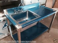 Commercial Catering Kitchen Stainless steel Sink, Single bowl,Right Hand1200x600