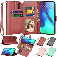 For Motorola Moto G Stylus 2020 Leather Wallet Case Flip Card Stand Cases Cover