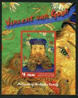 PALAU  NEVER BEFORE OFFERED RARE  VINCENT van GOGH  S/S  IMPERFORATE MINT NH