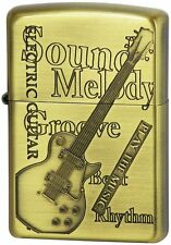 ZIPPO Lighter  NO200 PLAY THE MUSIC Guitar Brass 629285 Best Buy  from Japan