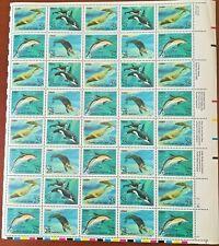 USA UNETED STATES 1990 foglio MAMMIFERI MARINI CONGIUNTA con USSR ** MNH