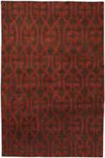 Surya Hand Knotted Wool Scarlet 5x8 Transitional Rug - Approx 5' x 8'
