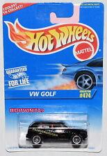HOT WHEELS 1996 VW GOLF COLLECTOR #474 BLACK W+
