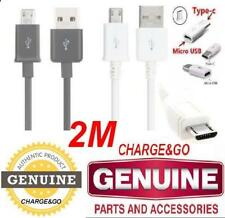2 M Metre Samsung Galaxy S8 S7 S6 S5 S3 Micro USB C Charger Data Charging Cable