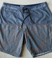 Billabong Platinum X Mens Board Shorts Size 36 Blue quick dry fabric