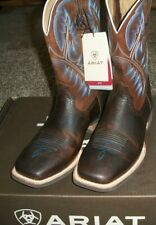"""Ariat 10006714 Quickdraw 11"""" Pull On Oiled Leather Western Cowboy Riding Boots"""
