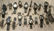 Job lot Identity London Silver Metal Bracelet 10 Watches & 10 ID Tag Chain Sets