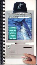 1996 Miami Marlins Media Guide - Spiral Bound