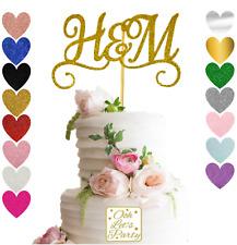 Wedding Cake Topper, Personalizados, Cumpleaños, Bautismo, brillo, Premium.