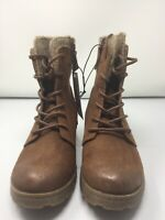 Universal Thread Womens Dez Lace Up Hiker Boots Cognac Size 9 1/2