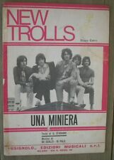 NEW TROLLS UNA MINIERA PROGRESSIVE ROCK 1969 SPARTITO SHEET
