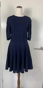 MARCS Navy Blue 1/2 Sleeve Dress Size 10