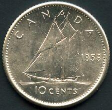 1956 Canada 10 Cent Coin (2.33 Grams .800 Silver)