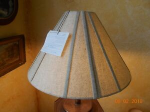 2 LEEAZANNE LAMP SHADES BELL SHAPE GREY GREEN SMALL CHECK LIKE DESIGN...
