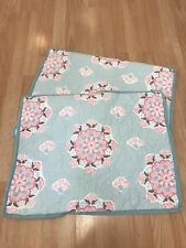 Pair of Pottery Barn Kids Pillow Shams Quilted Pink and Blue