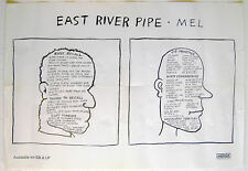 EAST RIVER PIPE Mel 1996 promo POSTER Merge - 18 inch x 24 inch