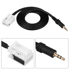 3.5mm Male AUX Stereo Audio MP3 Player Input Adapter Cable for Peugeot 307 408