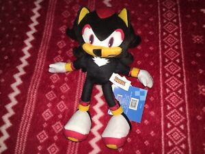 "NEW Official 8"" SHADOW THE HEDGEHOG Sonic Plush Toy 2020 SEGA Doll THAILAND STS"