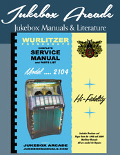 New Revised! Complete Wurlitzer 2104 Service & Parts Manual from Jukebox Arcade