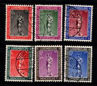 Luxemburg 1937 Mi. 303-308 Gestempelt 100% 10-5C, 35-10C, 70-20C, 1-0.25Fr, 1.7