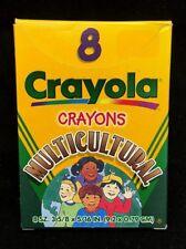 8 Crayola Multicultural Crayons 1998 Skin, Eye, Hair Colors Binney Smith 52-008W