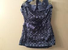 Halter top with matching belt size large New!