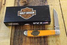 NEW Case XX Cutlery 52072 Harley Davidson Mini Trapper Pocket Knife Jigged Bone